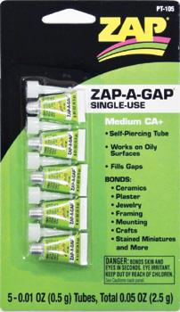 中粘度瞬間接着剤 使い切りタイプ ZAP-A-GAP SINGLE-U... USE 中粘度瞬間